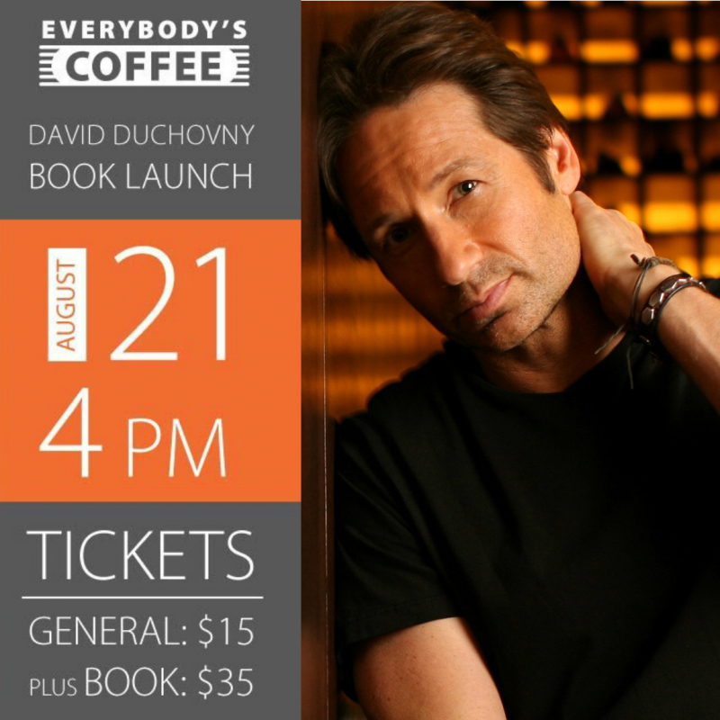 David Duchovny Reading and Book Signing